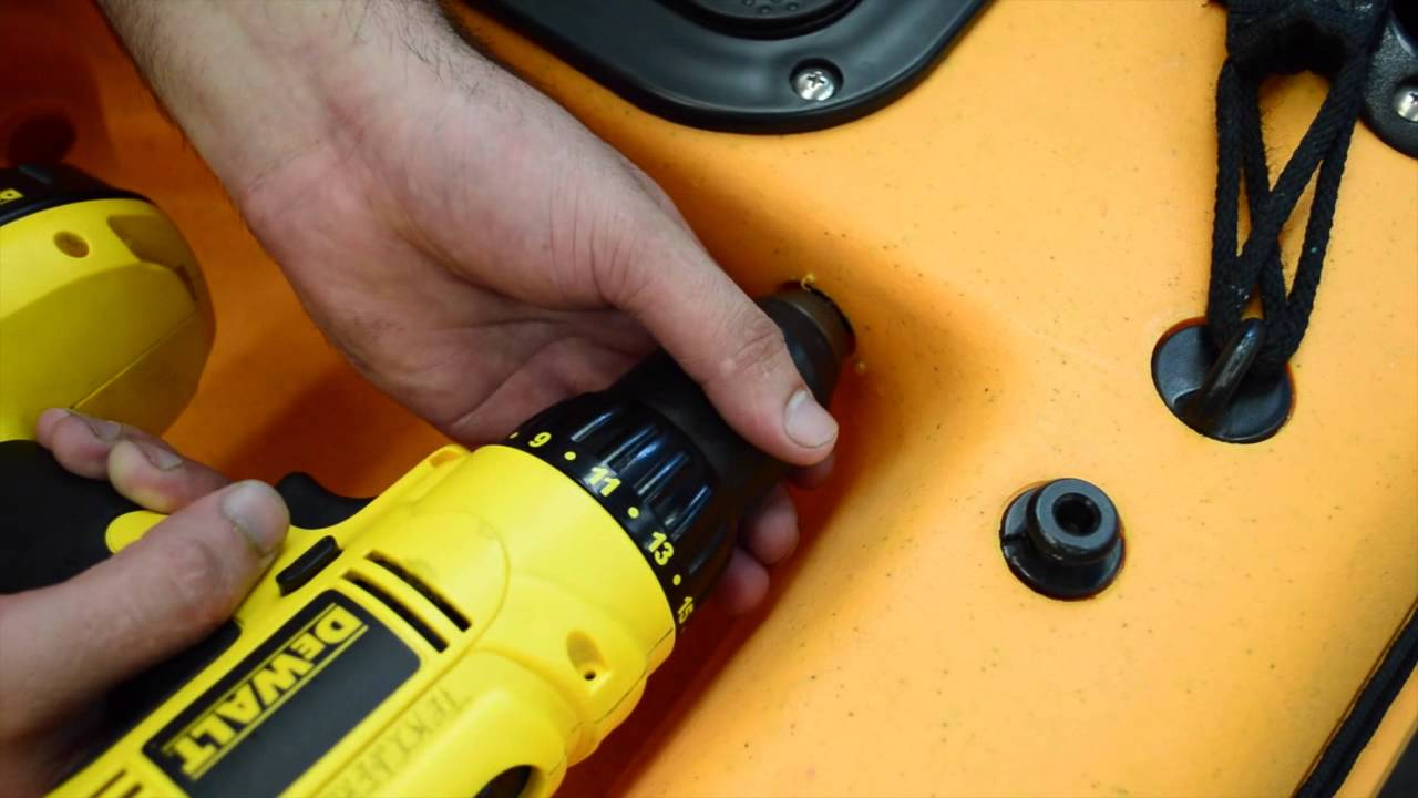 How To Install Fish Finder Power Drill