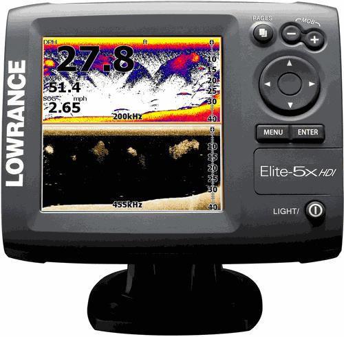 Lowrance Elite 5 HDI  Fish Finder Hybrid Dual Imaging